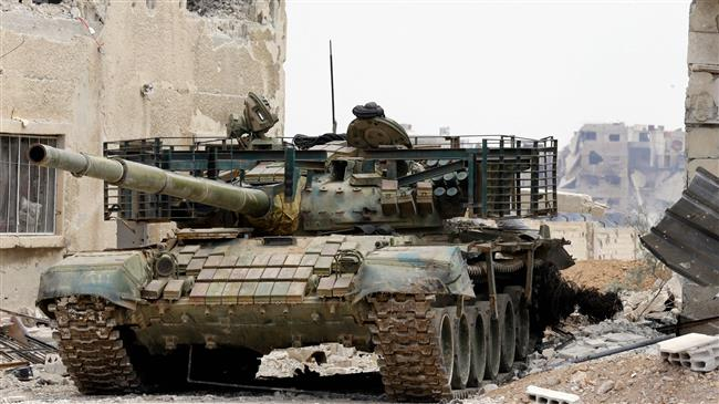 Syrian forces target terrorists south of Damascus