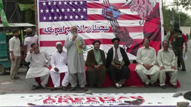 Protesters in Lahore condemn US-Israeli moves against Palestinians
