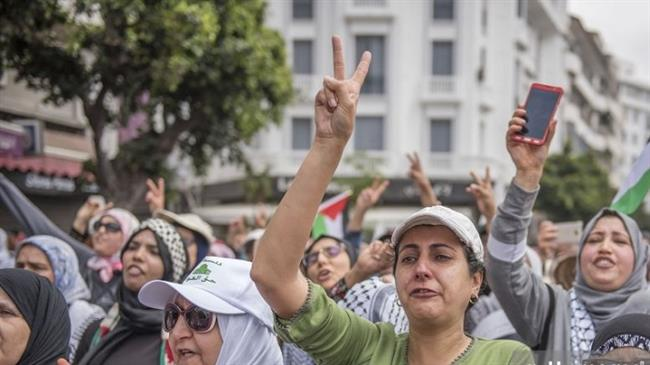 Moroccans protest US embassy move, Gaza carnage