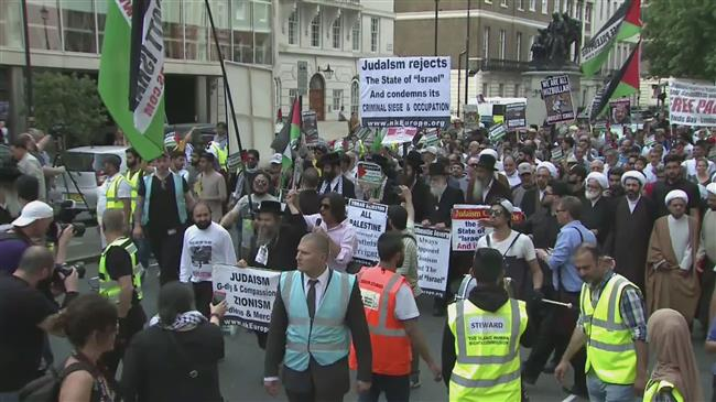 Zionists target Al Quds march in London