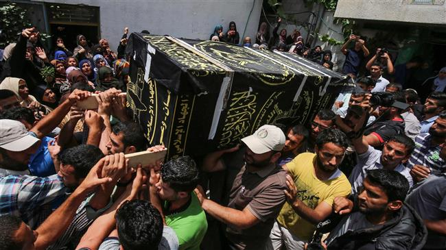 Funeral held for Palestinians killed by Israeli fire