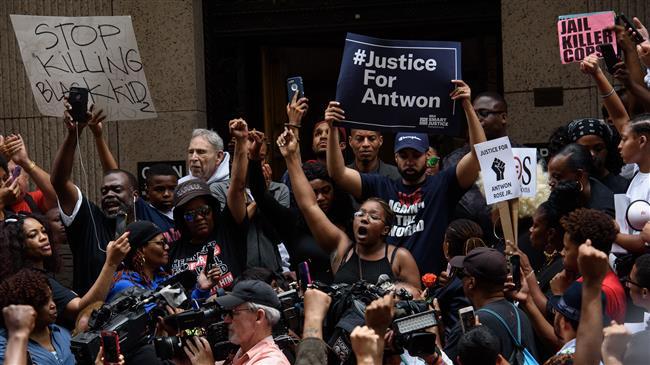 Protests erupt after black teen killed by US police