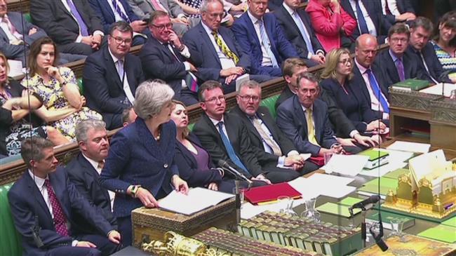 British prime ministerin Brexit battle