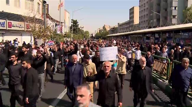 Iran: Protesters chant 'Down with USA' at demo