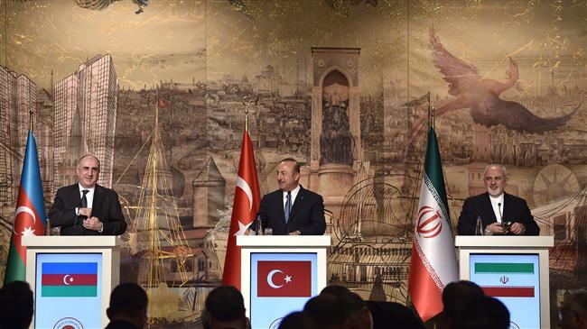 Iran, Turkey, Azerbaijan share stance on Middle East: FM Zarif