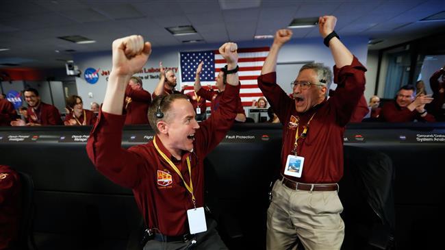 NASA's latest Mars craft makes nail-biting touchdown