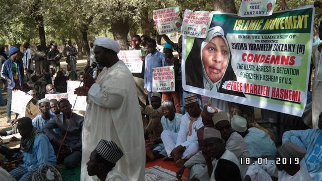 Nigerians rally to condemn Hashemi's arrest in US