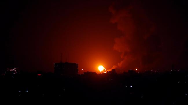 Israeli warplanes bombard northern Gaza Strip