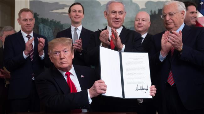 Trump unilateral decision on Golan Heights