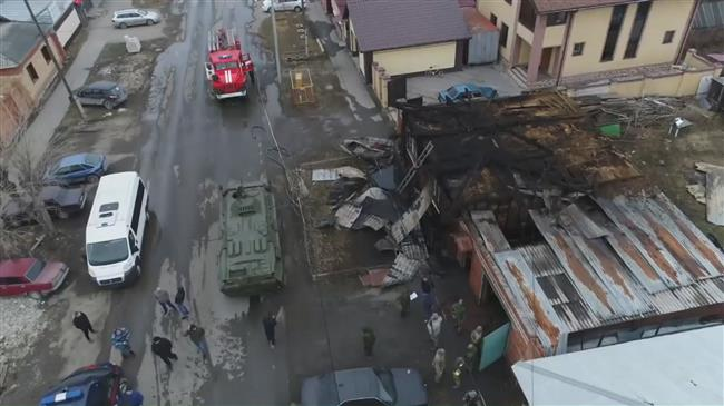 Drone captures aftermath of Daesh operation in Siberia
