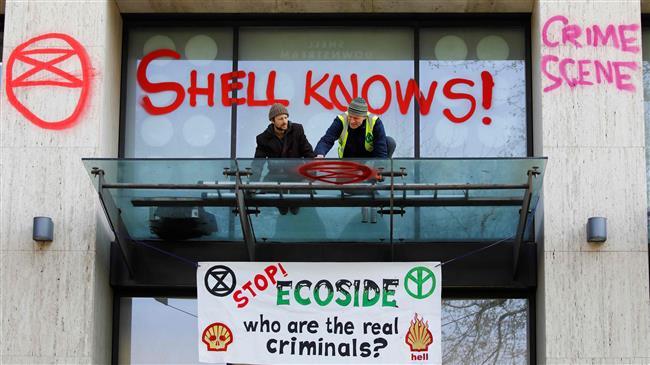 London climate protest turns violent