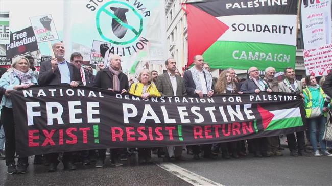 Ahed Tamimi leads London Nakba day demo
