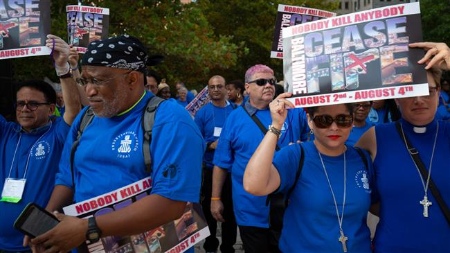 Protest held in violence-plagued US city to end murders