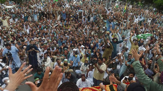 Protesters hold another rally in Pakistan