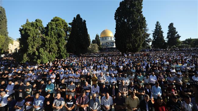 Palestinians mark Muslim holiday of Eid Al-Adha