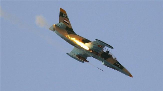 Syrian fighter jets pound militant positions in Idlib