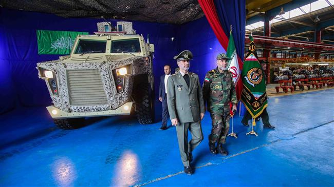 Iran military unveils tactical armored vehicles