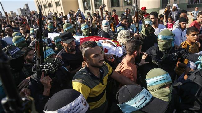 Funeral for Palestinian died of wounds from Gaza clashes