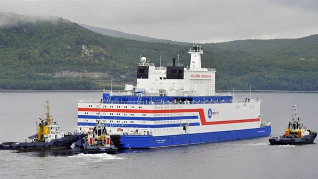 Russia's first floating nuclear plant arrives at Arctic base
