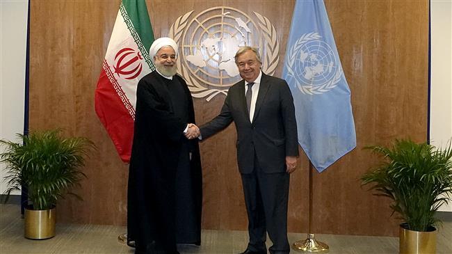Rouhani slams UN silence on US anti-Iran economic terror