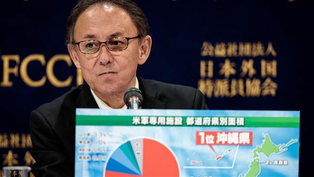 Okinawa governor renews call to stop US base plan