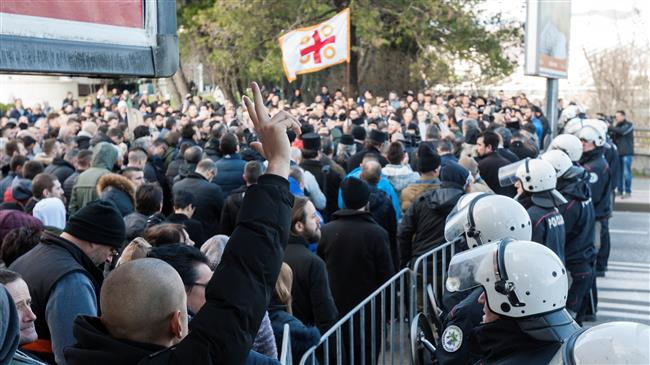 Protesters, police clash in Montenegro over religion law