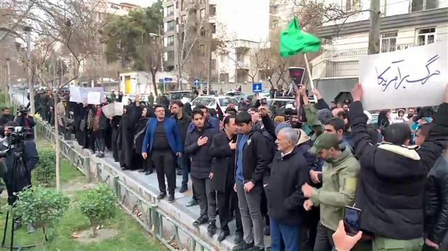 Iranians march on UN office in Tehran to denounce US assassination of Soleimani