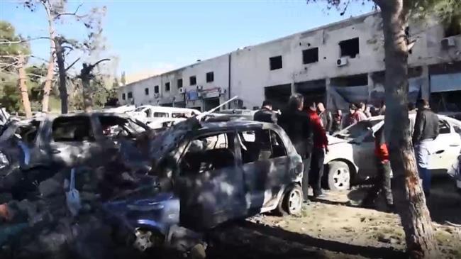 Israeli airstrike in Syria damaged car rental properties, footage shows
