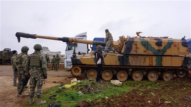 'Turkey threats of military force against Syria hollow'