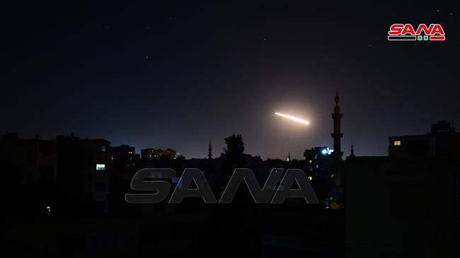 Syrian air defenses confront Israeli missile attack