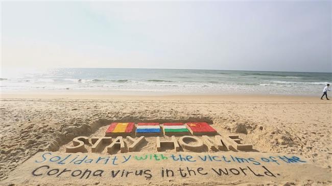 Gazan artists show solidarity with coronavirus victims
