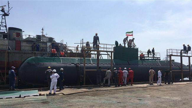 Iran's overhauled Ghadir-class submarine joins naval fleet
