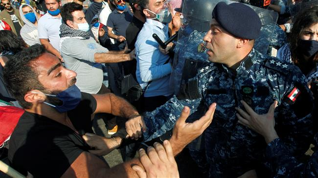 Protests over economic woes turn violent in Lebanon