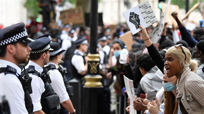 Black Lives Matter protests in London condemn British racism