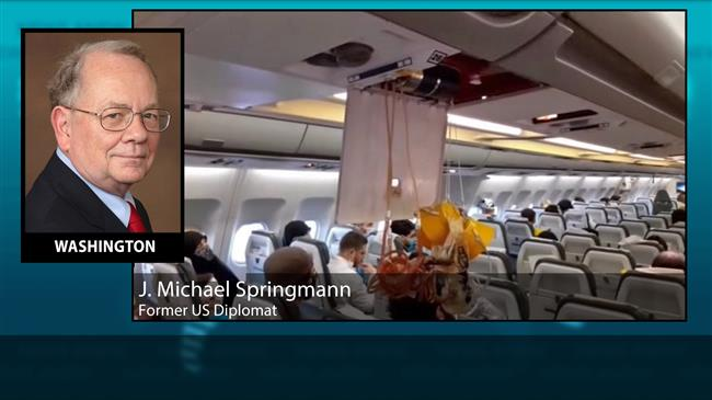 'US harassment of Iran airliner a distraction from crises at home'