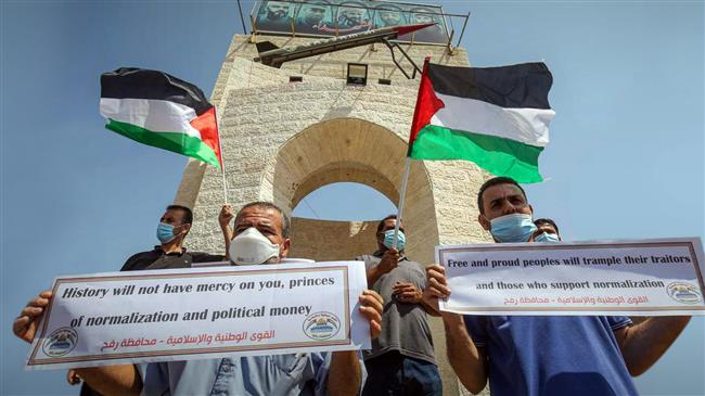 Palestinians voice anger against normalization deals with Israel