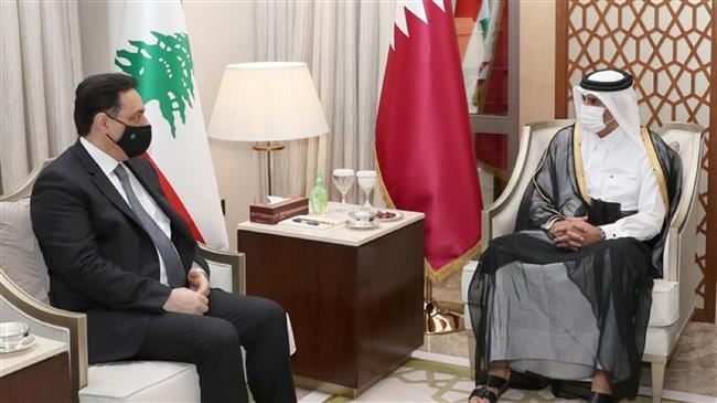 Lebanon's Diab seeks help from Qatar to handle economic crisis