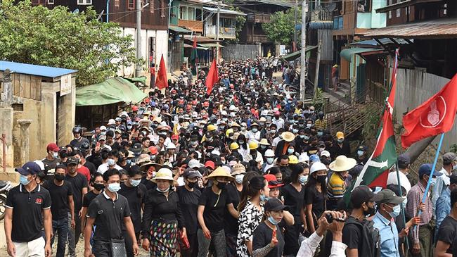 Anti-coup protests, crackdown continue in Myanmar