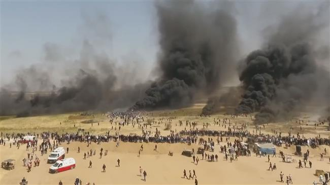 Gazans vow to stand against Israeli atrocities