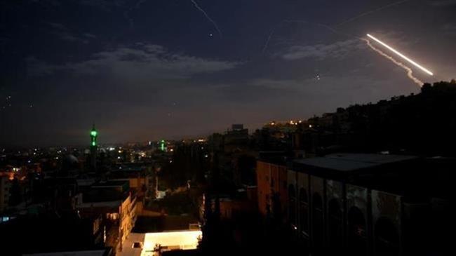 Syria's air defenses intercept Israeli missiles over Damascus