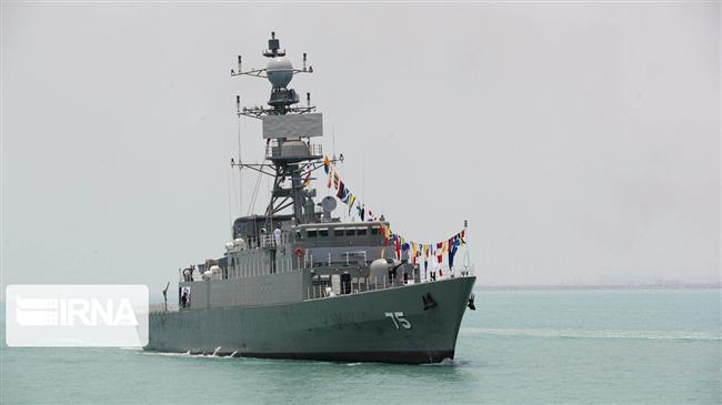 L'Iran sort son navire de guerre