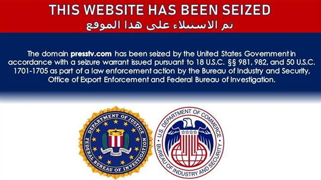 PressTV domain seized by US government