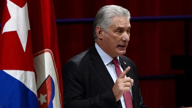 Cuba president: US uses 'economic suffocation policy' to provoke social unrest