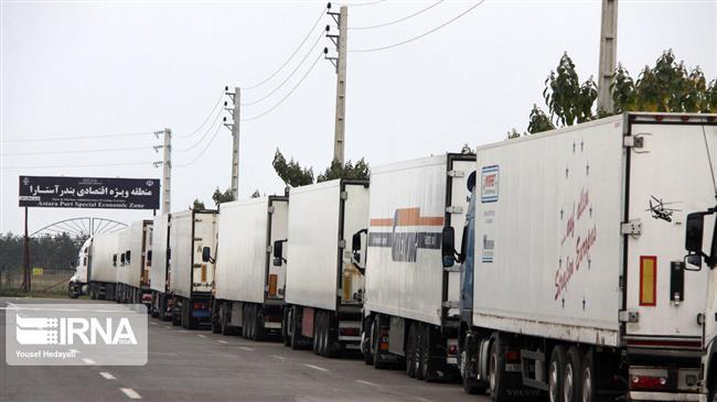 Iran reports increased exports to Russia, Azerbaijan