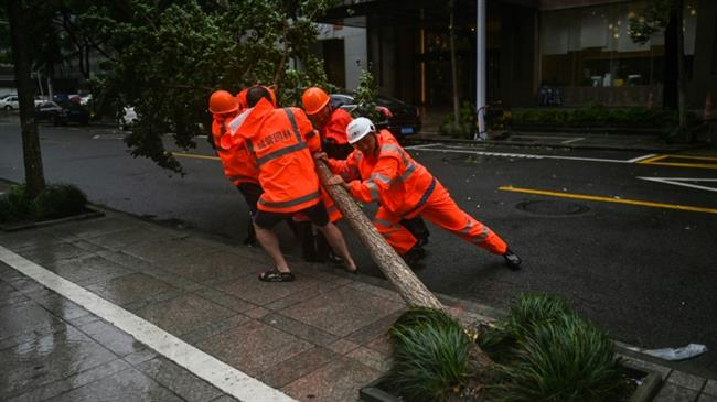 Typhoon In-Fa inundates east China