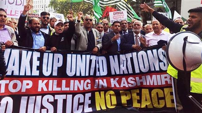 Furious UK protesters mark Kashmir statehood removal anniversary