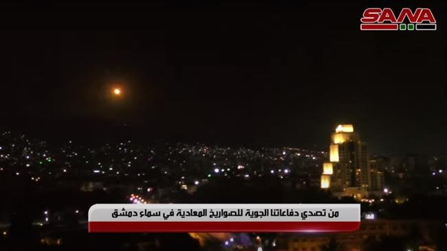 Syrian air defense units intercept, destroy Israeli missiles over Damascus