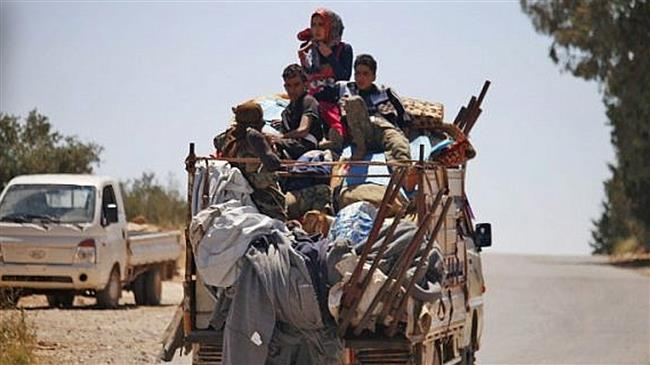 Thousands of people return to Dara'a a-Balad after Syrian army's control